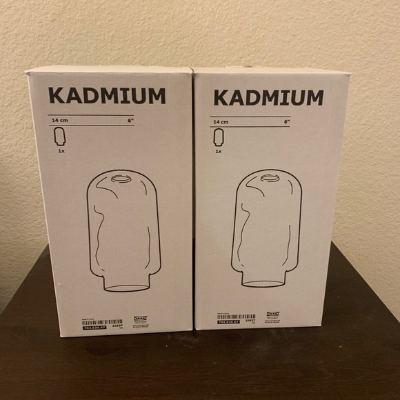 IKEA kadmium glass pendant set